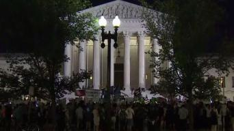 Protesters, Supporters Crowd Outside Supreme Court Building