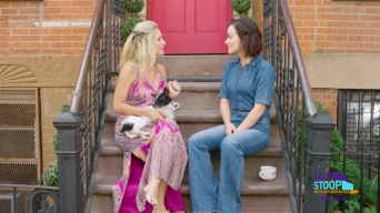 Olivia Wilde Break Dances on the Stoop with Cat Greenleaf