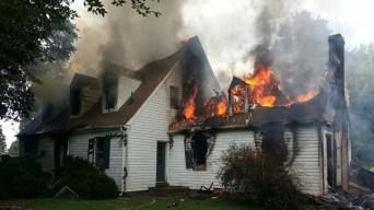 Fire Destroys Maryland Farm House