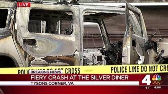 Hummer Rams Into Silver Diner