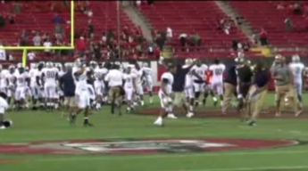 Howard Univ. Football Team Celebrates Huge Upset