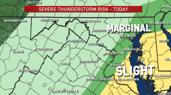 Strong to Severe Storms Move Through DC Area on Election Day