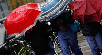 No Umbrellas for Ticket Holders