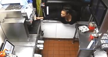 Woman Climbs Through Drive-Thru Window to Steal Food, Cash
