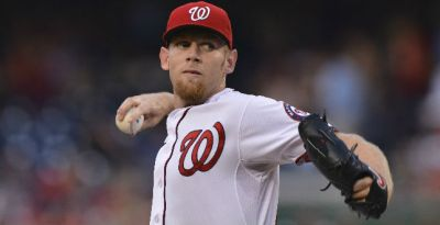 Strasburg on Disabled List With Back Strain