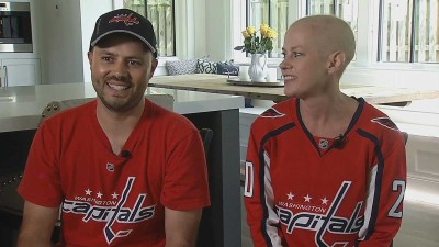 Caps' Success Provides Distraction for Woman Fighting Cancer
