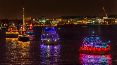 Christmas Walk, Boat Parade of Lights in Alexandria