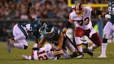 Redskins Quarterback Colt McCoy Fractures Leg