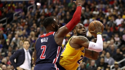 John Wall Drops 40, Wizards Send Off Lakers With an L