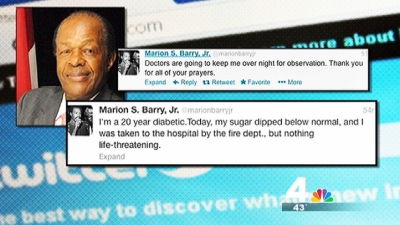 Marion Barry Hospitalized Overnight After Blood Sugar Drop