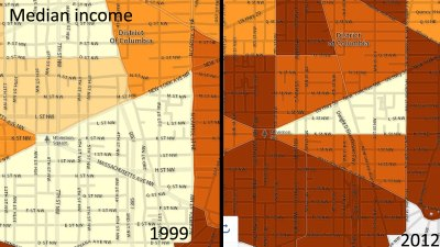 Compare D.C.'s Median Income From 1999 to 2012