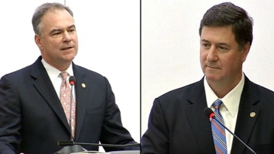 Big-Business Ad Hits Kaine After Endorsing Allen