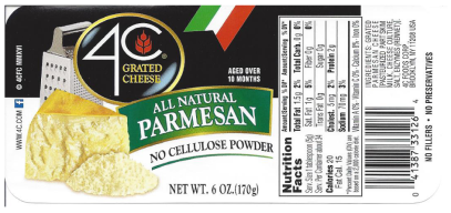 Giant Recalls 4C Grated Cheese  Over Salmonella Concerns