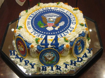 Yesterday Was Baracks 48th Birthday And He Given This Frosted Monster As His Cake