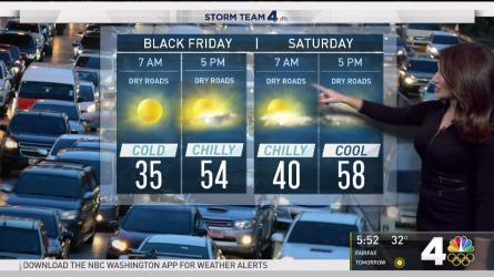 <p>News4's Sheena Parveen has the forecast for Thanksgiving Day and beyond.</p>