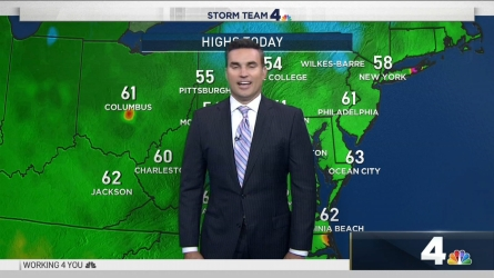 <p>We're in for a cold and wet weekend, but skies should look clear and the temperature will be in the 60s as we head into the week.</p>