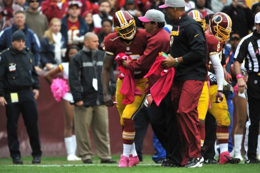 "RGIII ""Thinks"" He'll Play Despite Concussion"