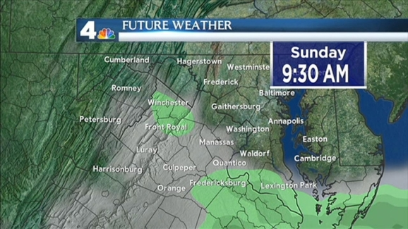 Weather Forecast February 3 2012 Midday Nbc4 Washington