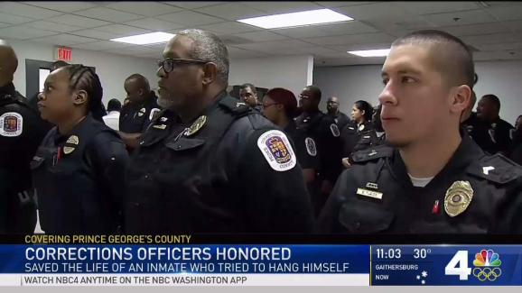 corrections officers honored for saving inmate s life nbc4 washington