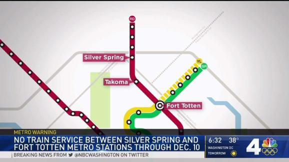 Part Of Metro S Red Line Is Shut Down For 2 Weeks Nbc4 Washington