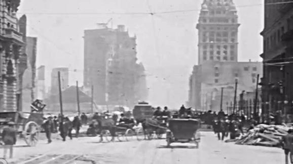 rare footage of 1906 san francisco earthquake devastation to go