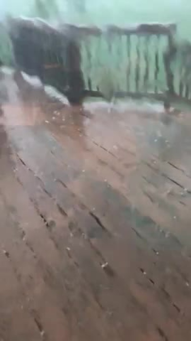 Hail Storm Hits Virginia Home
