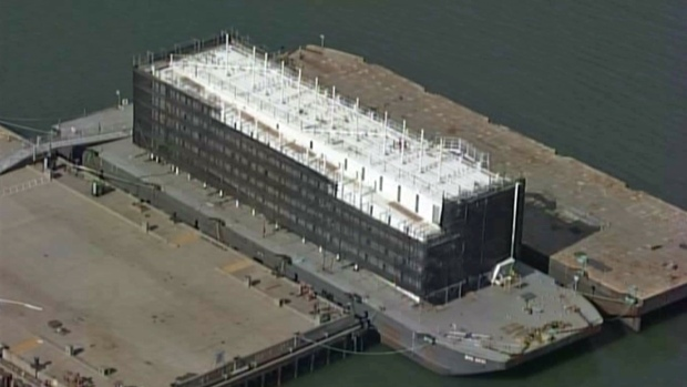 Mystery Google Barge on San Francisco Bay