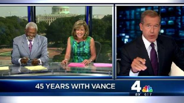 [DC] Brian Williams' Hilarious -- And Touching -- Tribute to Jim Vance