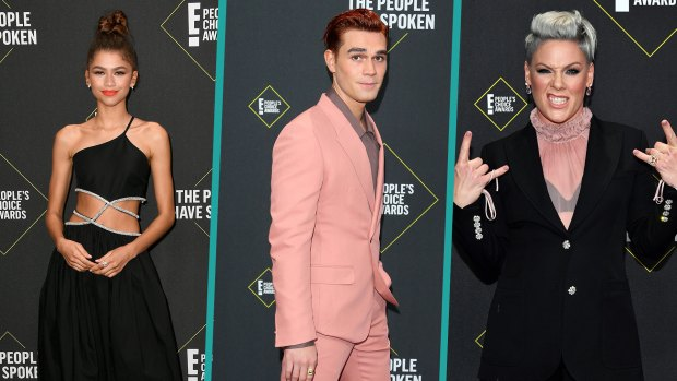 [NATL-AH] Celebrities Show Stunning Styles at People's Choice Awards
