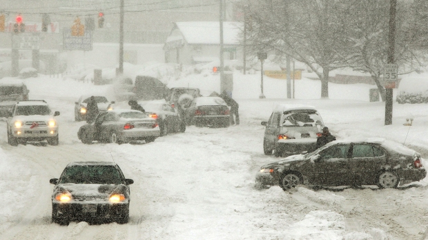 18-19, 2009 snowstorm in Alexandria, Virginia. (Photo by Win McNamee/Getty Images) Photo credit: Getty Images
