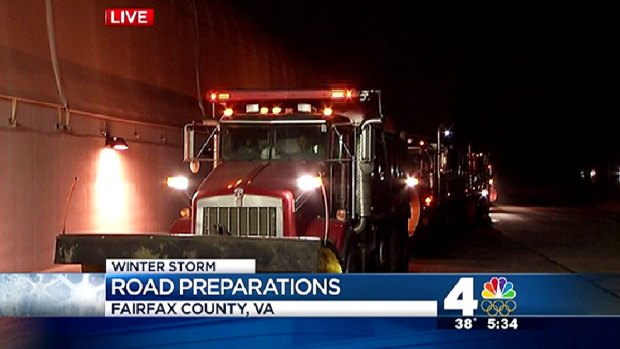 [DC] Northern Virginia Crews Get Ready for Snow