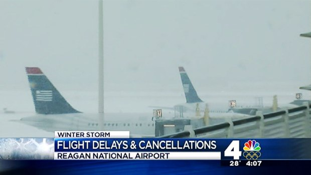 [DC] Hundreds of Flights Canceled at Local Airports