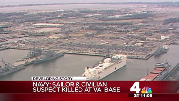 [DC] Norfolk Suspect Disarmed Officer: Navy