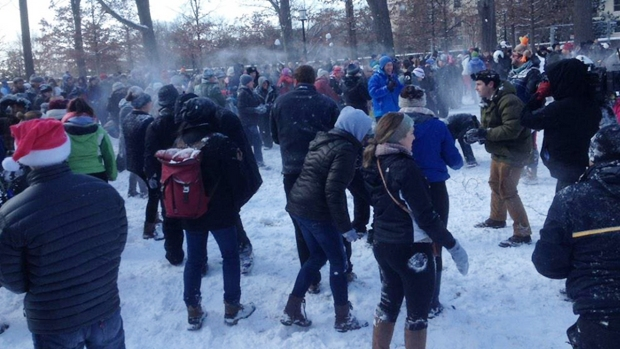 Troops Battle in Huge D.C. Snowball Fight