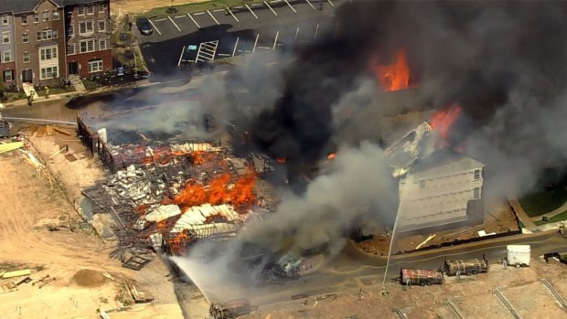 Photos: Blaze Consumes Buildings on Entire Md. Block