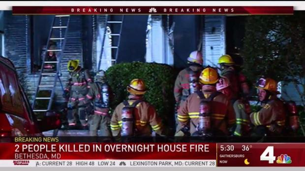 Mother, Adult Son Killed in Bethesda Fire   NBC4 Washington