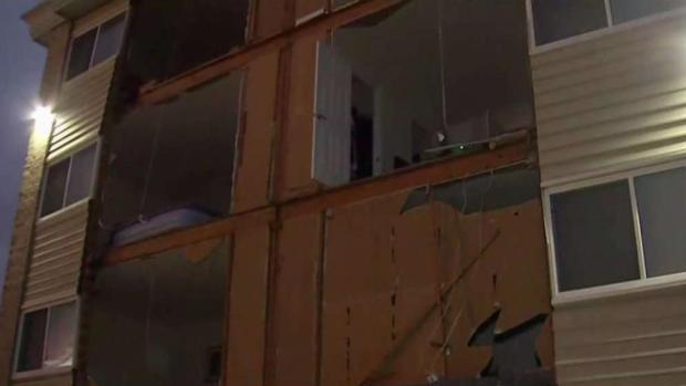 300 Residents Displaced After Winds Bring Down Apt. Wall