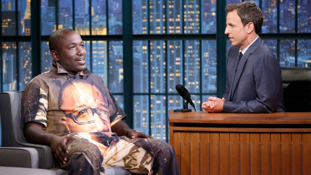 [NATL] Meyers: Comedian Hannibal Buress Has a Jumpsuit With a Picture of His Face