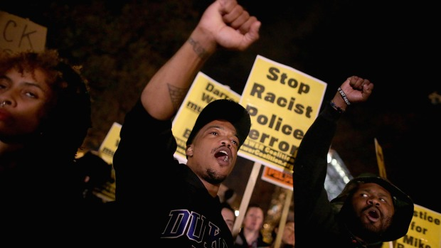 Protests Erupt After Ferguson Decision