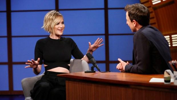 [NATL] Meyers: Jennifer Lawrence Talks Harry Potter, Mean Brothers