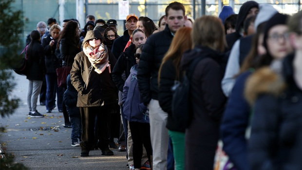Long Lines Form as Polls Open Across the Eastern US