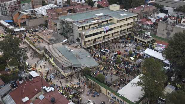 [NATL] At Least 25 Killed in Mexico City School Collapse