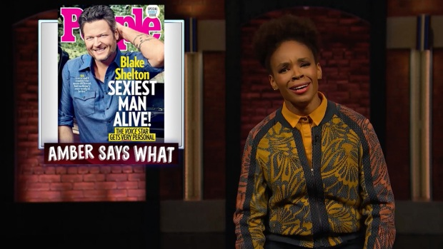 [NATL] 'Late Night': Amber Ruffin on Blake Shelton Being Named 'Sexiest Man Alive'