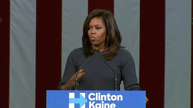 Michelle Obama Blasts Trump's Comments on Women in NH