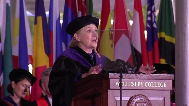 'I'm doing OK': Hillary Clinton delivers graduation speech at alma mater