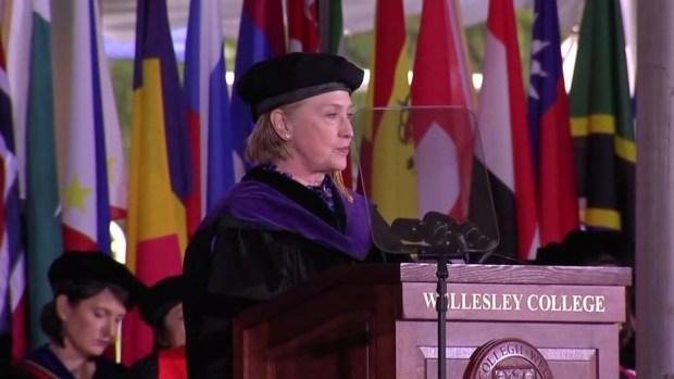 'I'm doing OK': Hillary Clinton delivers graduation speech at alma mater