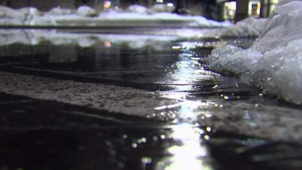 Beware of Black Ice as Slush Freezes on Roads