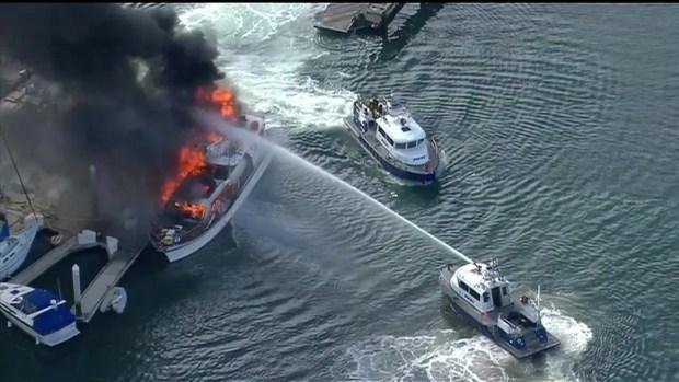 [DGO] Boat Fire Sunroad Resort Marina