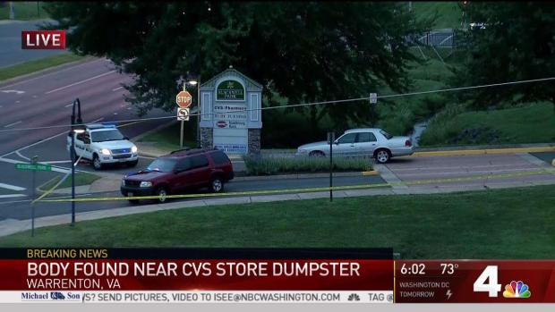 [DC] Body Found Near Dumpster at CVS in Warrenton