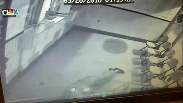 [DC] Video: Brick Bounces Off Glass, Hits Burglar in Head